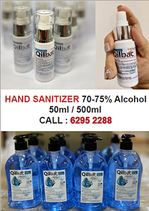 Hand Sanitizer 500 & 50 ml - Liquid Type - 70-75% Alcohol